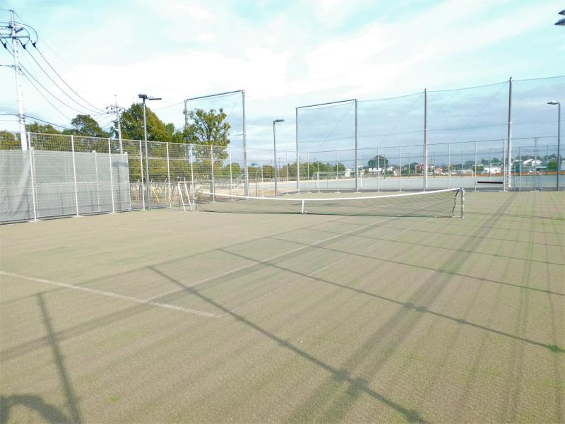 テニスコートの画像(デュースサイド)