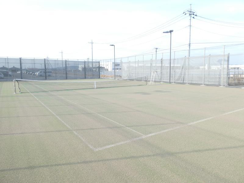 テニスコートの画像(アドバンテージサイド)